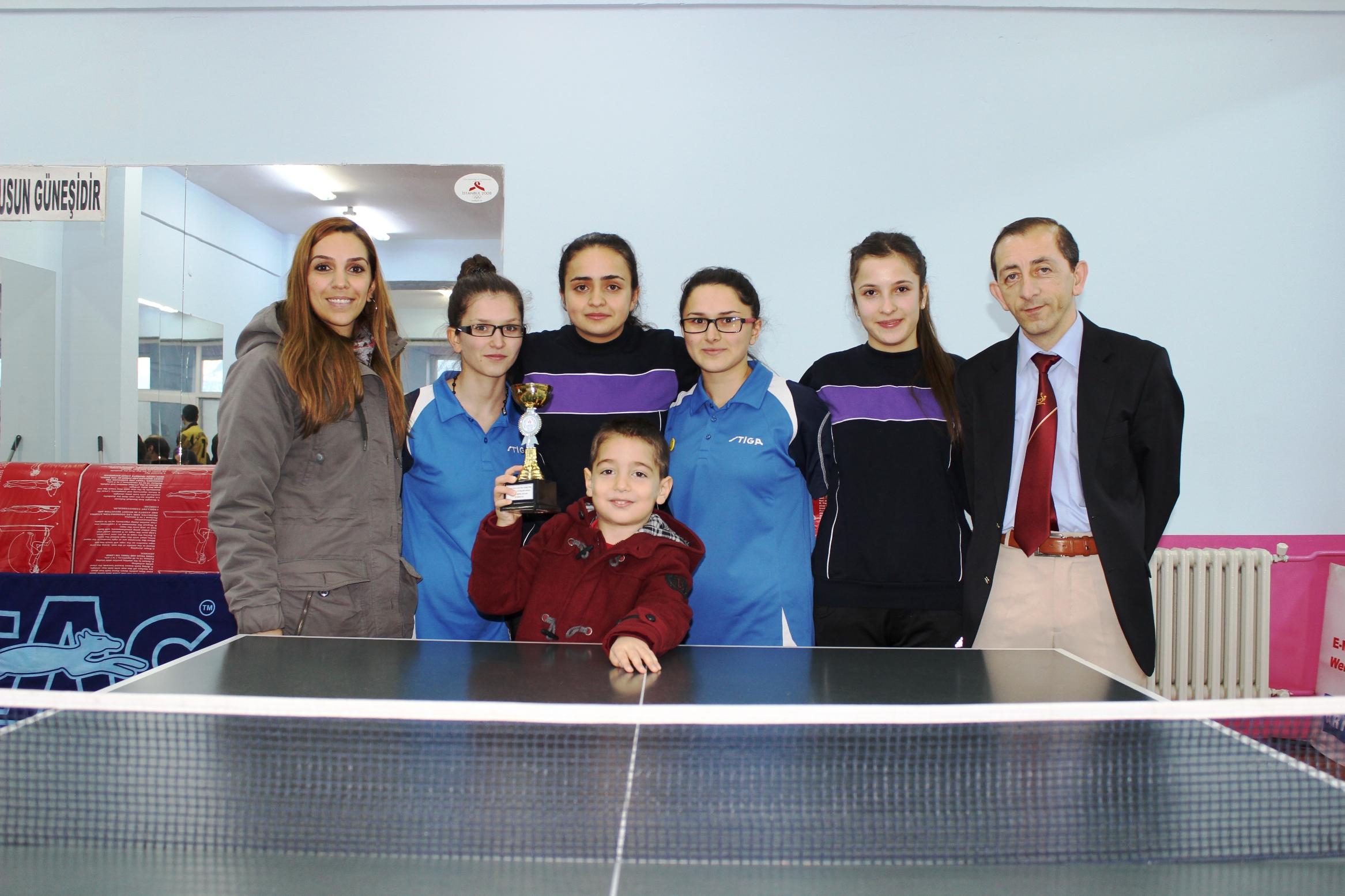 Okullararası masa tenisi il birincileri belirlendi